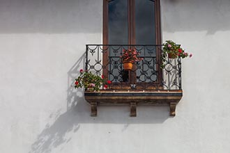 A Balcony, 5th Avenue, Antigua, Guatemala